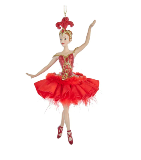 Fire Bird Ballerina Ornament, 6.5""