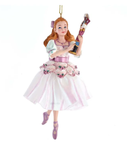 Hollywood Nutcracker Suite Clara With Nutcracker Ornament, 6""