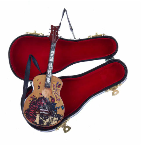 Grateful Dead Guitar With Black Case Ornament, 5.5""
