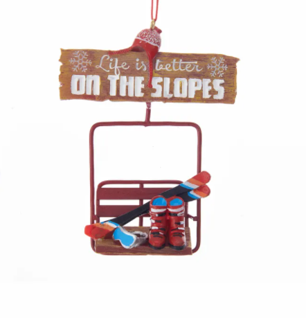 Resin Ski Lift Hanging Ornament, 4.75""