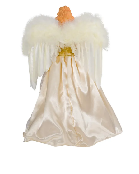 Ivory And Gold Angel Lighted Treetop, 16.5""