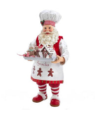 Gingerbread Chef Santa Figurine, 11