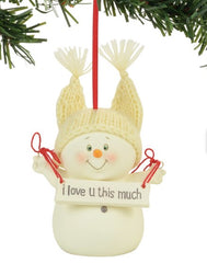 I Love You This Much Ornament, 3