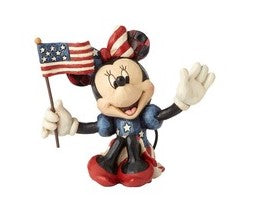 Jim Shore Mini Patriotic Minnie, 3.125""