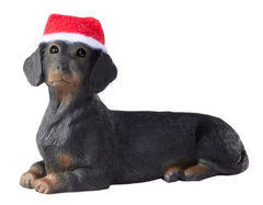Dachshund Black Dog Ornament