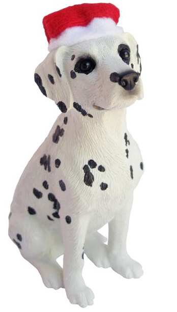Dalmatian Black Dog Ornament