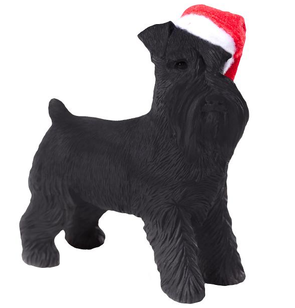 Black Schnauzer Dog Ornament