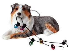 Australian Sheperd Dog Ornament