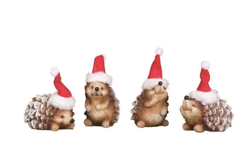 Holiday Hedgehogs Figurines - 4 Assorted, 2.5""