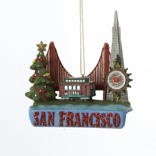 "3.5"" Resin San Francisco Ornament"