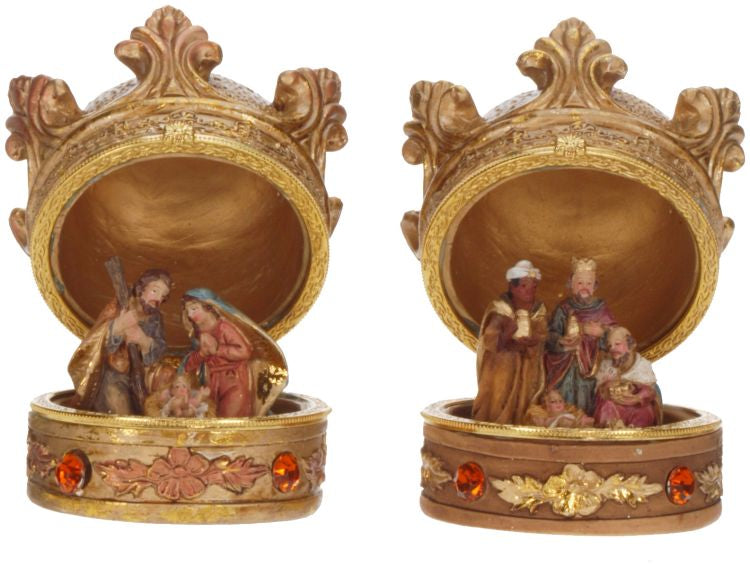 "Mark Roberts Crown Nativity Box, 3"",Assortment of 2"