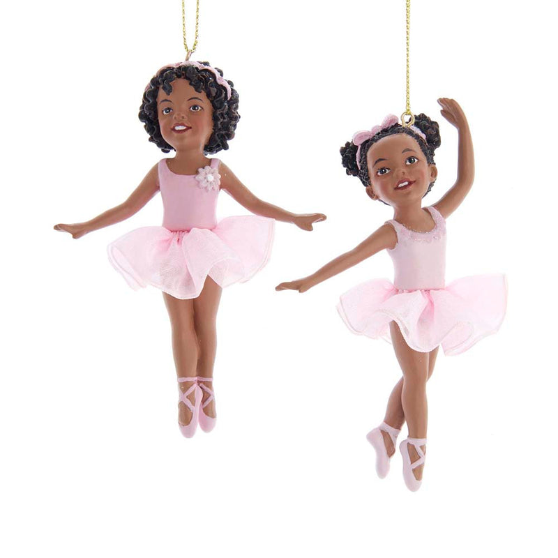 Black Ballerina Girl 2 Assorted 4.25""