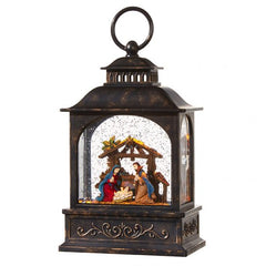 Nativity Lighted Water Lantern 8.5
