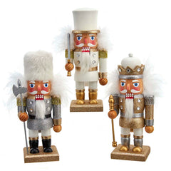 Gold, Silver, and White Soldier Nutcrackers 9
