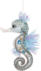 Mark Roberts Beaded Seahorse Ornament, 9''