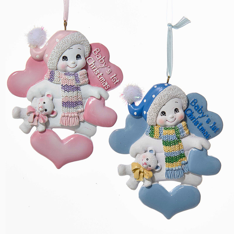 Baby's 1st Christmas Snowman Ornaments, 4.25""