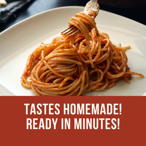 Fresh Delicious and Fast recipes to upgrade your favorite tomato sauce and pasta sauce recipes. Ready in minutes. Pictured: homemade spaghetti twirling on a fork