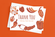 mockup-of-a-greeting-card-placed-over-an-envelope-on-a-surface-revved up sauce thank you for all that you do