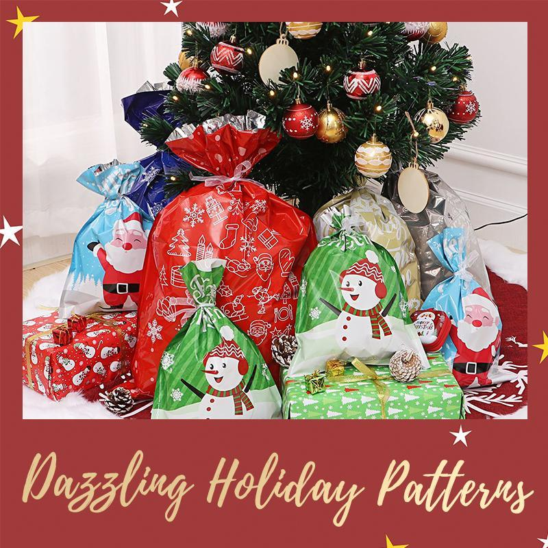 Christmas Drawstring Gift Bag Pack