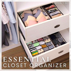 Essential Closet Organizer (Set of 4)