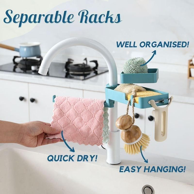 Double Layered Rotatable Sink Organizer