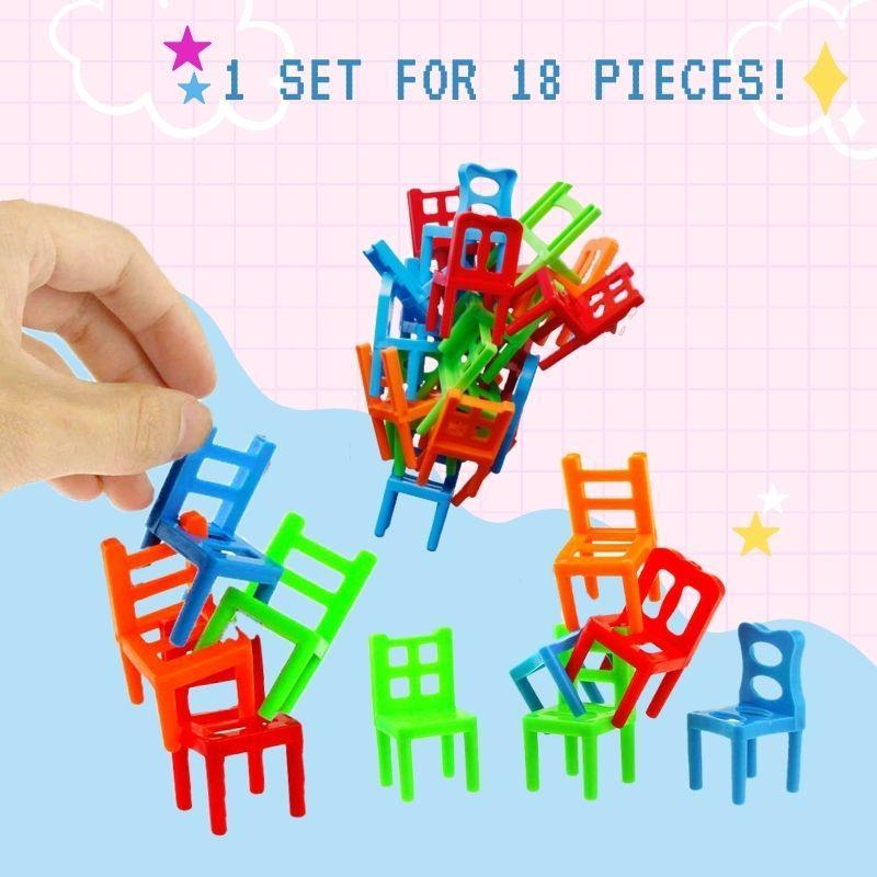 Chairs Stacking Puzzle Game (Set of 18)