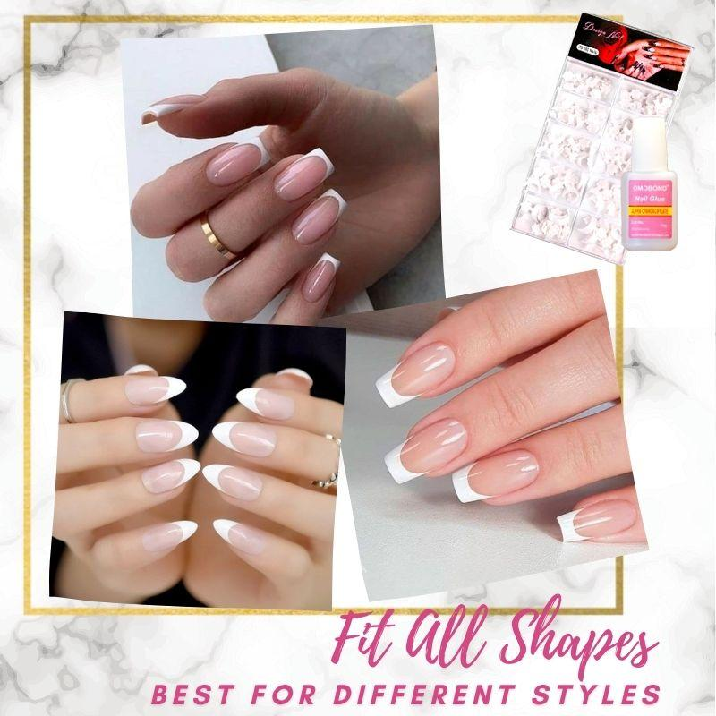 NailBeauty Glue-On French Nails Kit