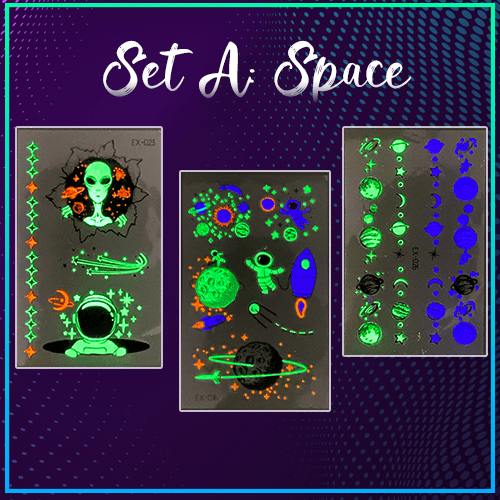 Inkstr™ Glow-In-The-Dark Tattoo Sticker Set