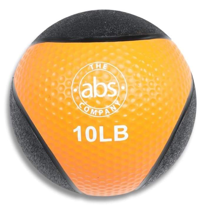 HomeGymVault Free Weights Blue/Black Copy of The Abs Company 10 LB Medicine Ball Free Weights - Orange/Black
