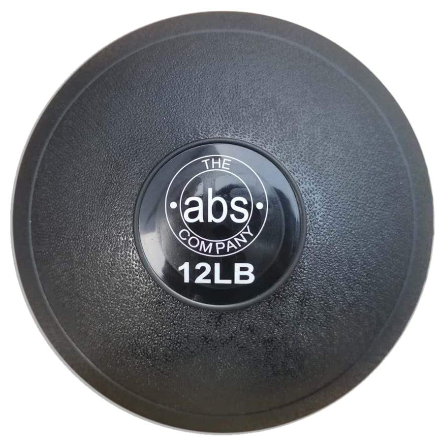 HomeGymVault Free Weights Black The Abs Company 12 LB Medicine Ball Free Weights - Black