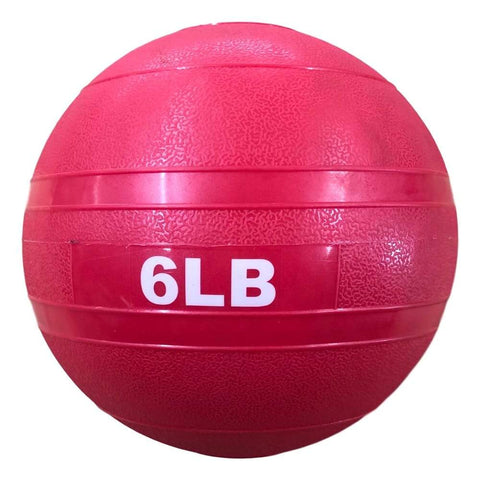 HomeGymVault Free Weights Red/Black The Abs Company 6 LB Slam Ball Free Weights - Red