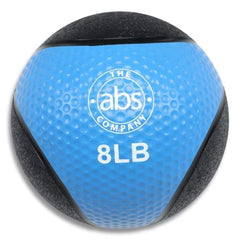 HomeGymVault Free Weights Blue/Black The Abs Company 8 LB Medicine Ball Free Weights - Blue/Black