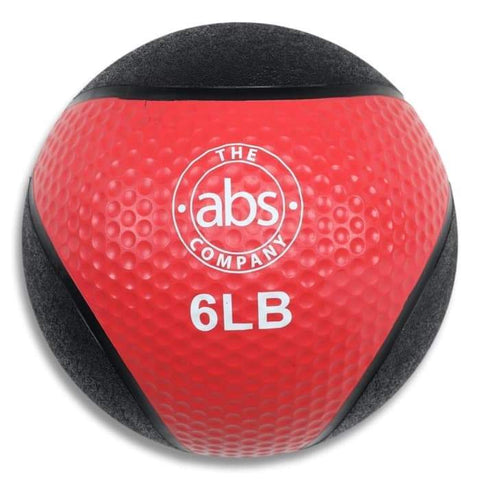 HomeGymVault The Abs Company 6 LB Medicine Ball Free Weights - Red/Black