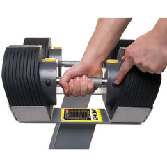 MX Select MX55 Adjustable Dumbbells and Rack Set