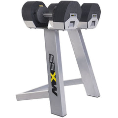 MX Select Free Weights 55lb Adjustable Dumbbells w/ Rack MX Select MX55 Adjustable Dumbbells and Rack Set