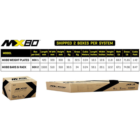 MX Select Free Weights 80lb Adjustable Barbell & EZ Curl Bar w/ Rack MX Select MX80 Adjustable Barbell and EZ Curl Bar with Rack