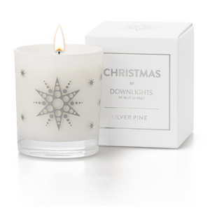 Downlights Candle in Silver Pine fragrance