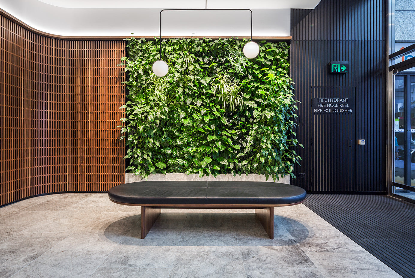 Vertical Garden designed by Greenwall Solutions using Green4Air vertical green wall system