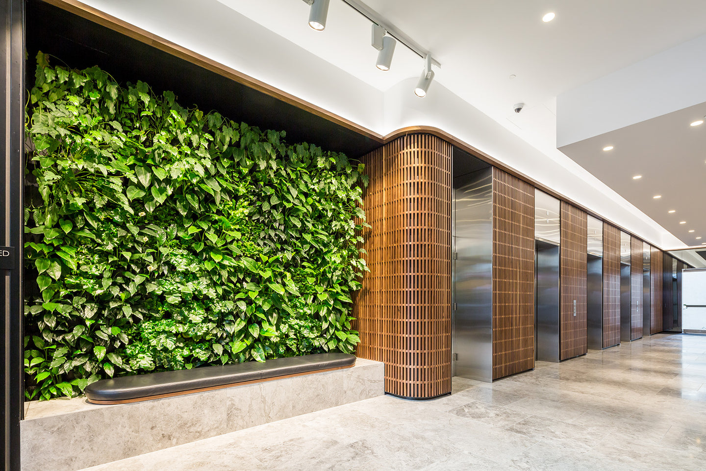 Vertical Gardens by Greenwall Solutions using Green4Air vertical green wall system