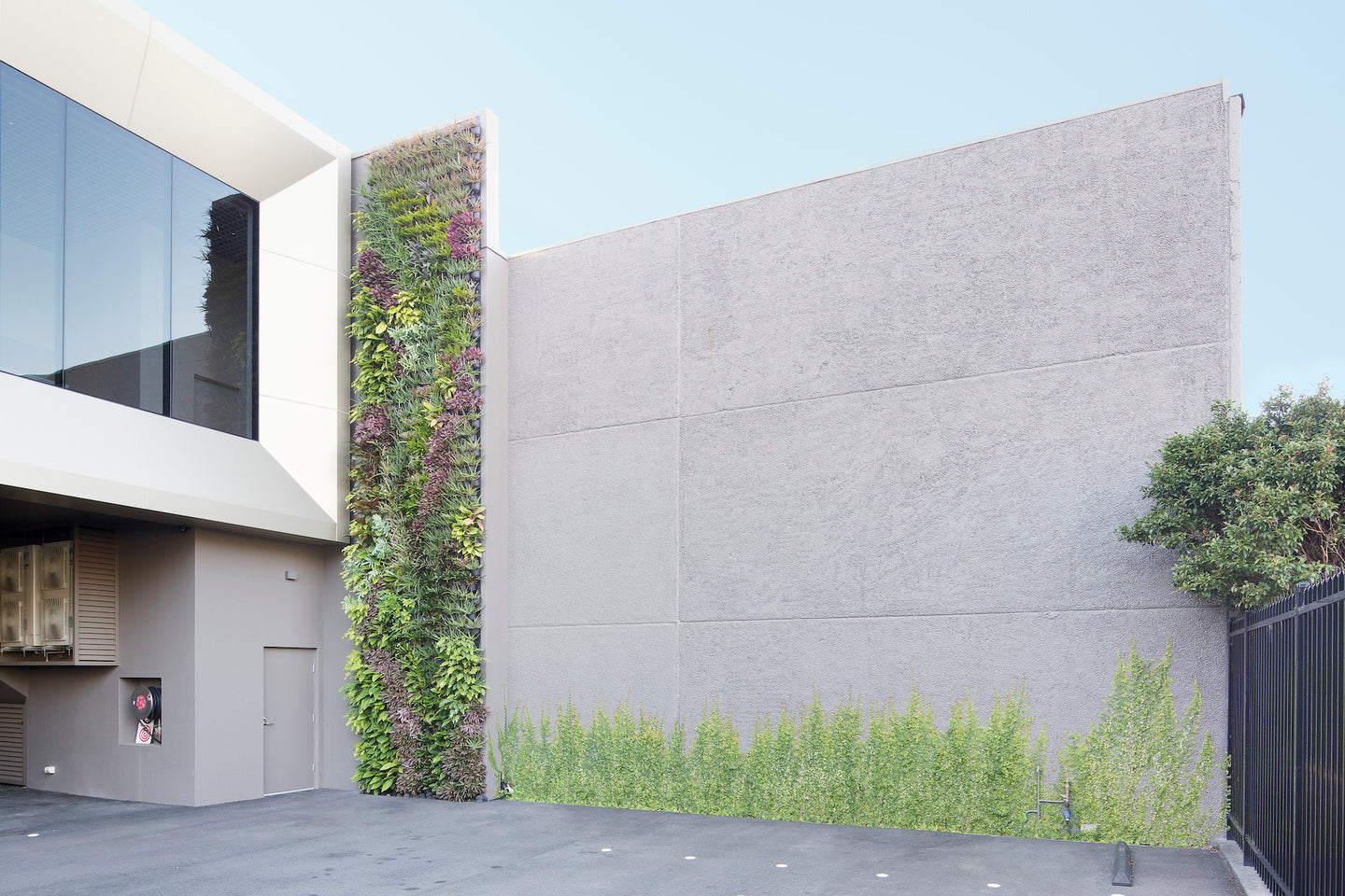 Warehouse Vertical Green Wall By Greenwall Solutions using Green4Air Vertical Green Wall Garden Kit