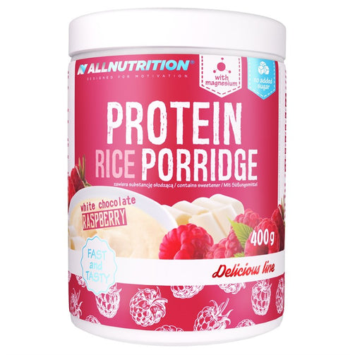 White Chocolate Raspberry Protein Rice Porridge - sweetfit.co.uk