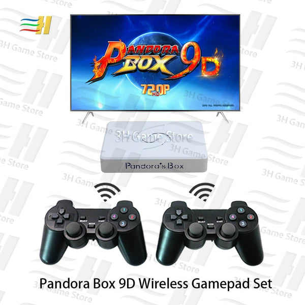 Pandora Box 9D! 2500 games in 1, motherboard 2 Players Wireless Gamepads.