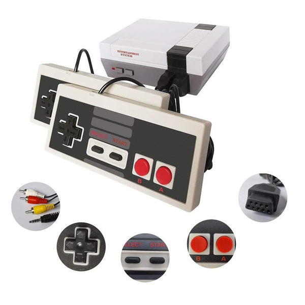 HDMI/AV NES-Style Mini Classic Edition Retro Video Games Console with 2 Controllers and Built-in 600 Classic 8-bit Games