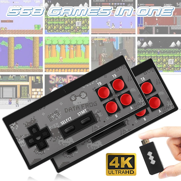Handheld Game Console Retro Mini Classic 4K TV AV/HDMI 8 Bit 568/600 Video Games!