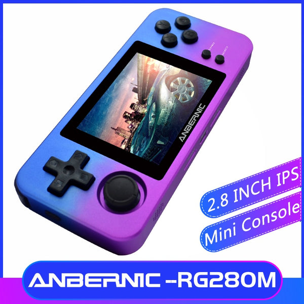 HOT!  ANBERNIC NEW RG280M Retro MINI Games 2.8 inch Handheld game console! 64Bit PS1 emulator!