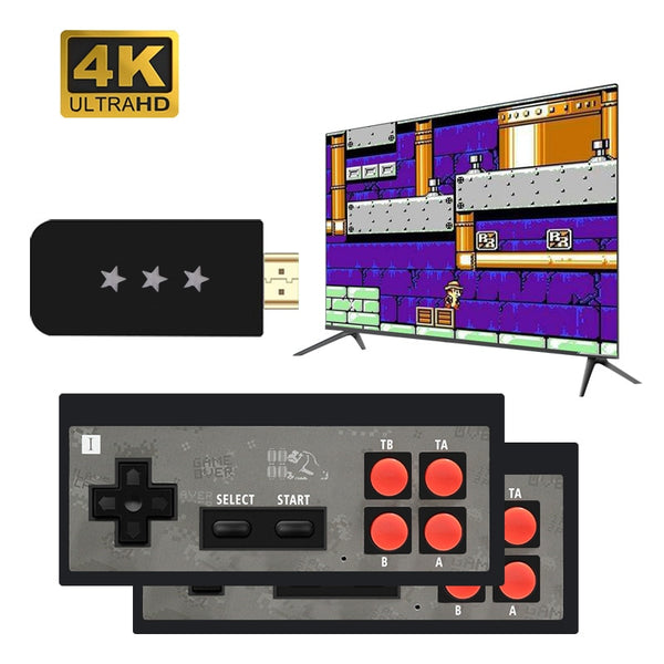 USB Wireless HDMI Handheld TV Video Game Console with 568 Classic 8 Bit Games!