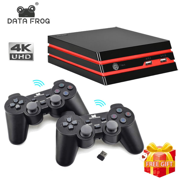 DATA FROG Game Console With 2.4G Wireless Controller HDMI Video Game Console 600 Classic Retro Games