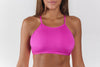 Active swim top pink/purple front view