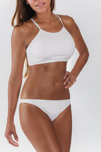White active swim top