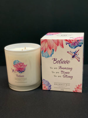 Believe Inspirational Candle